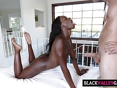 Huge Dick Fucks Ebony Teen Ana...