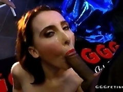 Redhead dirty slut gets cums...