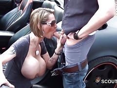 German Monster Tit MILF fuck two...