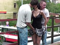 Petite cute teen girl PUBLIC...