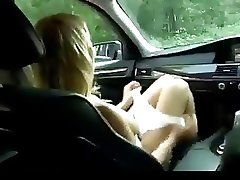 Sex in a Car with a stunning...