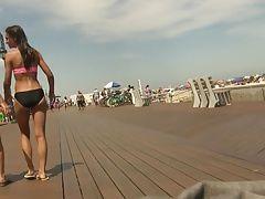 Teens Strolling on the Boardwalk...