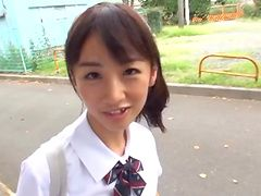 Dazzling Asian teen with a nice...