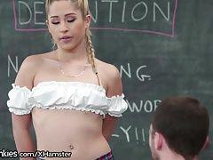 Slutty Teen Schoolgirl Horny in...